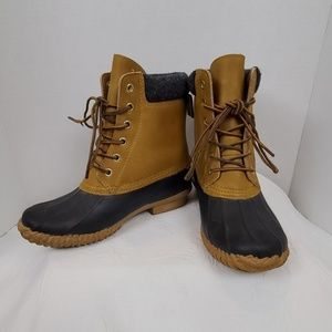 Hilfiger Black and Tan Russel Duck Boots